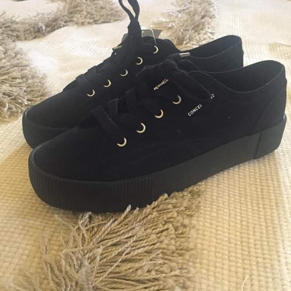 H\u0026M Shoes | Hm Black Sneakers | Poshmark